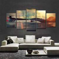 Popular Movie Poster Star Wars 5 Panels Canvas Painting Wall Art For Living Room Wall HD