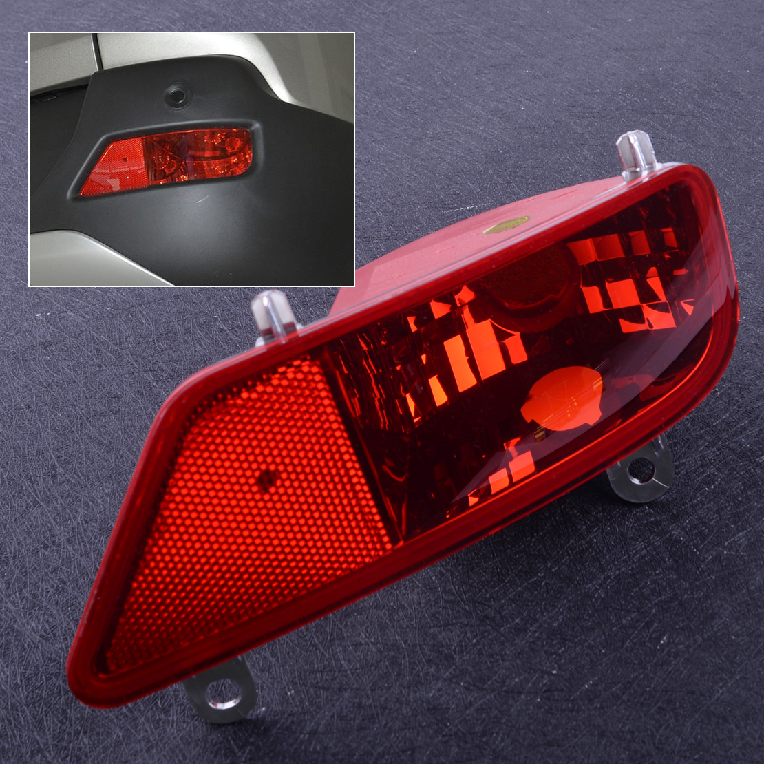 CITALL Right Rear Tail Bumper Fog Light Lamp Cover Case Shell Fit For Peugeot 3008 2009 2010 2011 2012 2013 2014 2015