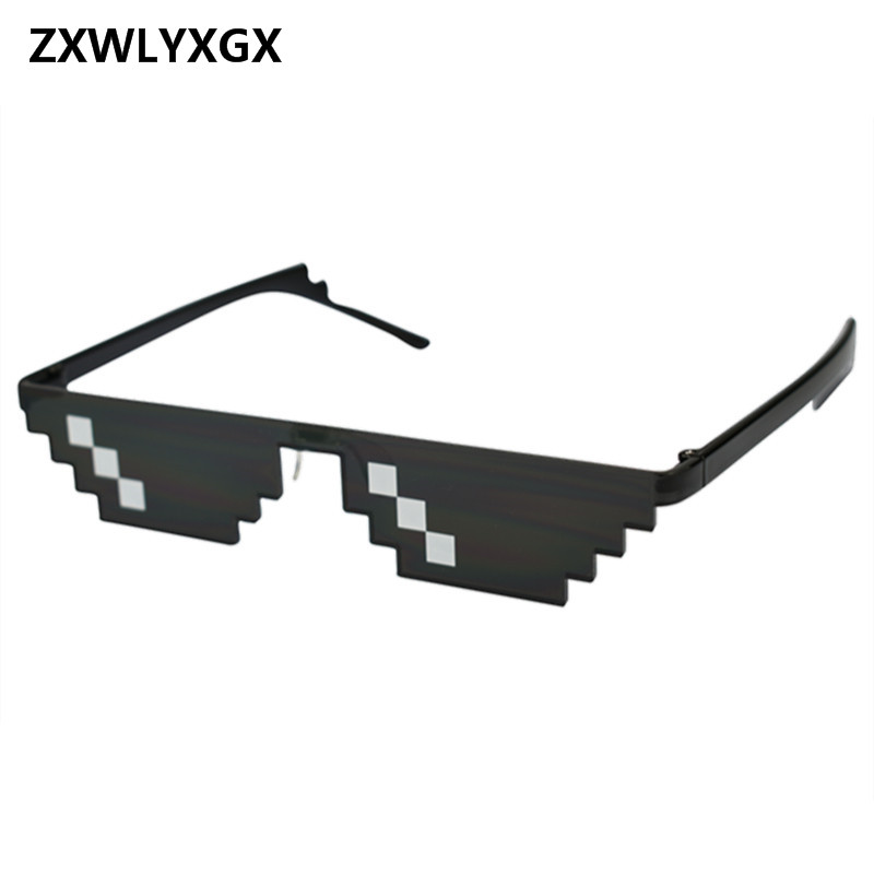 ZXWLYXGX Sunglasses Men Glasses Women Black Style Pixel
