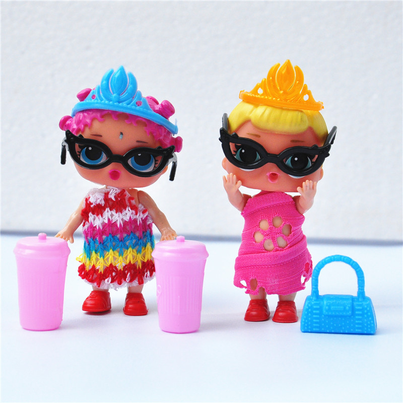 2pcs/Lot lol doll ball Magic Funny Removable dolls lol Toy Educational Novelty Kids boneca lol Dolls Girl Toys for Girl children dayan gem vi cube speed puzzle magic cubes educational game toys gift for children kids grownups