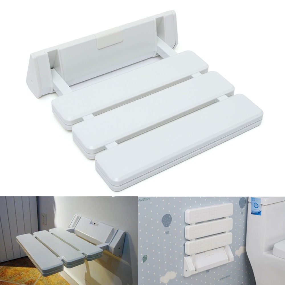 Different price wall mounted foldable stool bathroom for Space saving seating