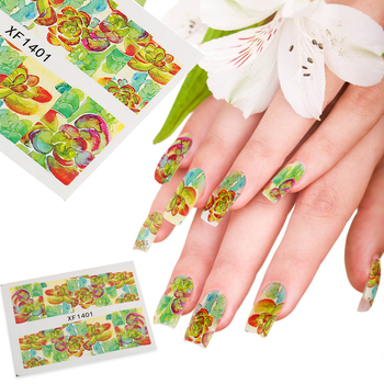 by DHL or EMS 1000pcs  Water Transfer Sticker Summer Style Flowery Decals Nail Art 3d Wraps Temporary Tattoos Watermark