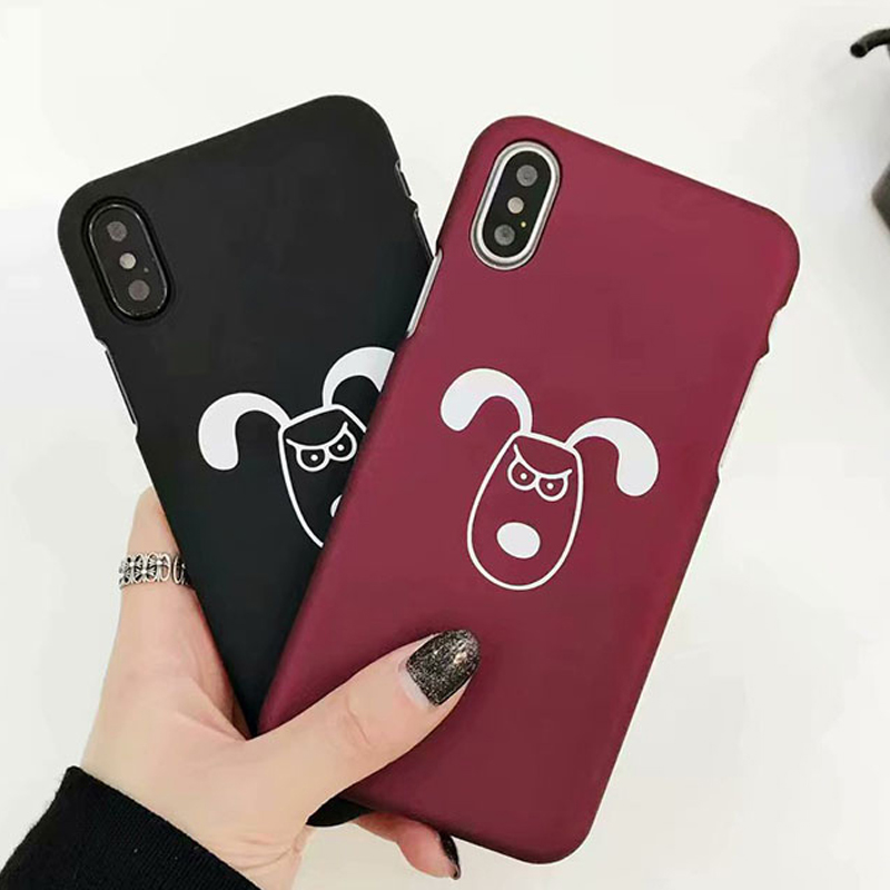Fashion Cute For Apple case Cartoon animal dog chicken Phone Cases Hard plastic PC Back Cover For iPhone 6 6s 7 8 X Plus Case
