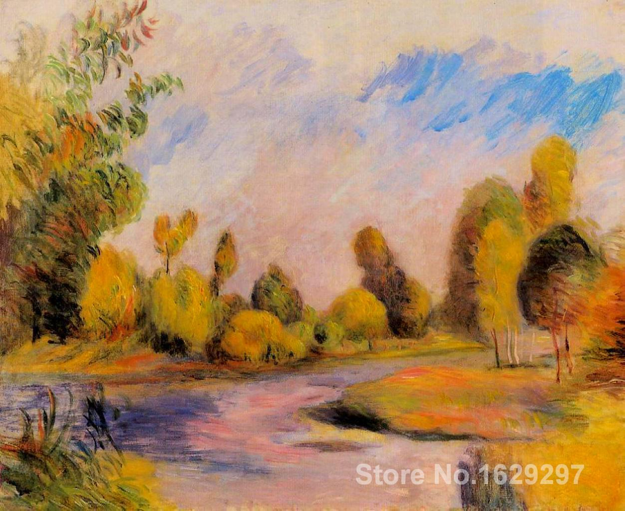 handmade oil painting Banks of a River Pierre Auguste Renoir art Reproduction High qualityhandmade oil painting Banks of a River Pierre Auguste Renoir art Reproduction High quality
