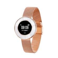 X6 smart band women smart bracelet Ceramic heart rate IP68 Waterproof Lady fitness tracker smartband long standby 0.66 inch OLED