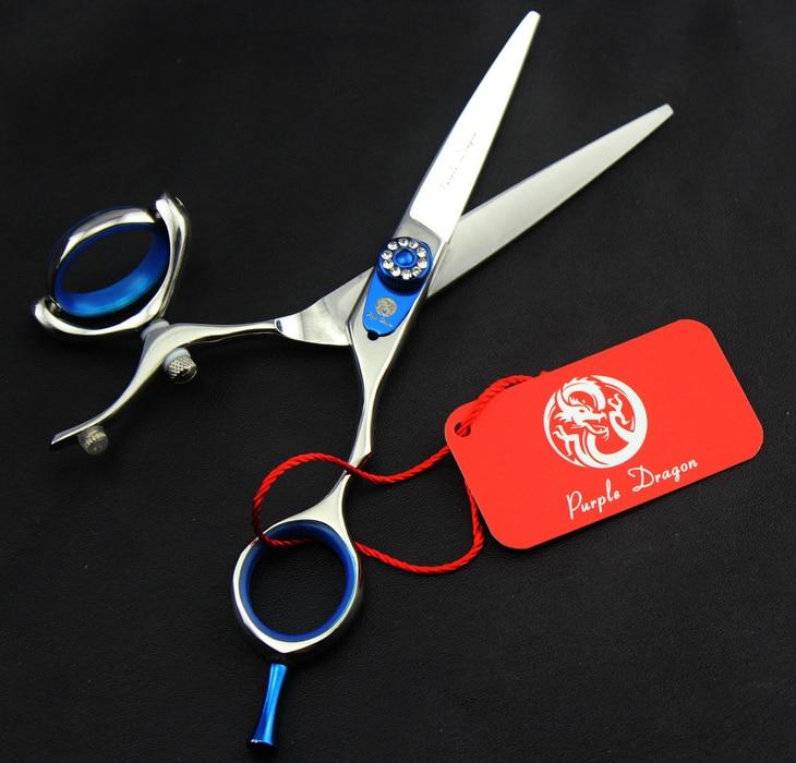 ФОТО 5.5'' 6.0'' Barber Hair Flat Silver Scissors Stainless Steel Hair Scissor Hairdresser Shear Clipper DIY G041