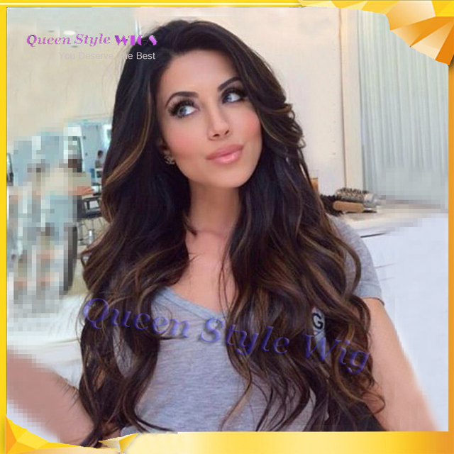 Beauty Classic Graceful Long Beach Wave Hair Lace Front Synthetic Wigs About 24 Inches