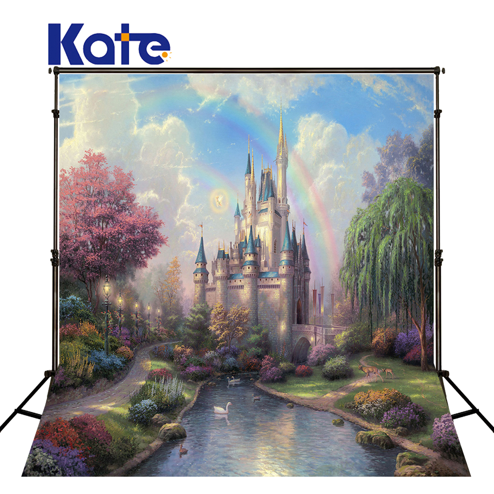Kate Children Photography Backdrop Baby 6.5X10Ft(200X300Cm) Castle Creek Cartoon Background For Studio Washable Backdrop kate 300x600cm photography background castle photography baby backdrops castle creek cartoon background newborn photograph