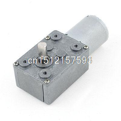 GW370 Low Speed High-torque Reducer Gearbox DC Worm Gear Motor 12V 8RPM dc 12v 10a gw80170 worm gear reducer electric motor large torque high power low speed