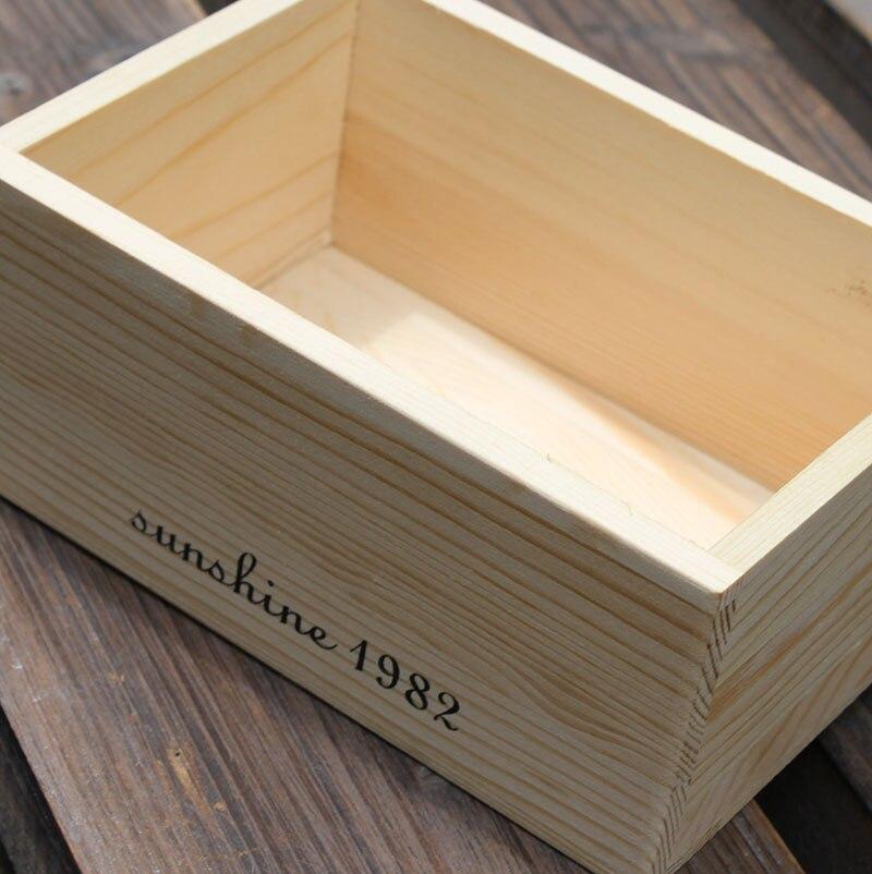 ZAKKA продуктовый стиль деревянный ящик небольшие деревянные изделие коробка для хранения винтажные Рабочий стол органайзера