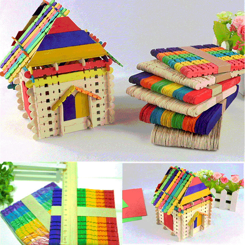 Building Lolly Lollipop Craft Sticks Natural 100 pcs