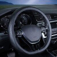 car steering wheel cover genuine leather accessories 38cm for Peugeot 307 408 508 volvo s80 mazda cx5 kia sorento skoda yeti