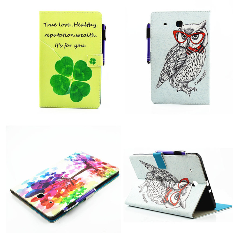 Fashion OWI Flower Flip PU Leather Case Cover For Samsung Galaxy Tab E 9.6 T560 T561 Case For Galaxy Tab E 9.6 SM-T560 tablet