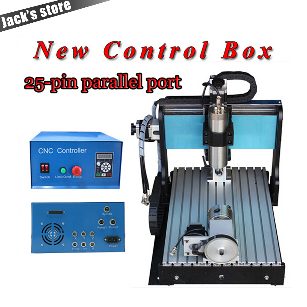 25-pin parallel port! 3040Z-SS++ (4-axis),CNC 30401500W Spindle+2.2kw VFD CNC Router water-cooling+4axis Metal engraving machine usb port cnc milling machine cnc 3040 z vfd 4 axis limit switch 1 5kw vfd water cooling spindle cnc engraver
