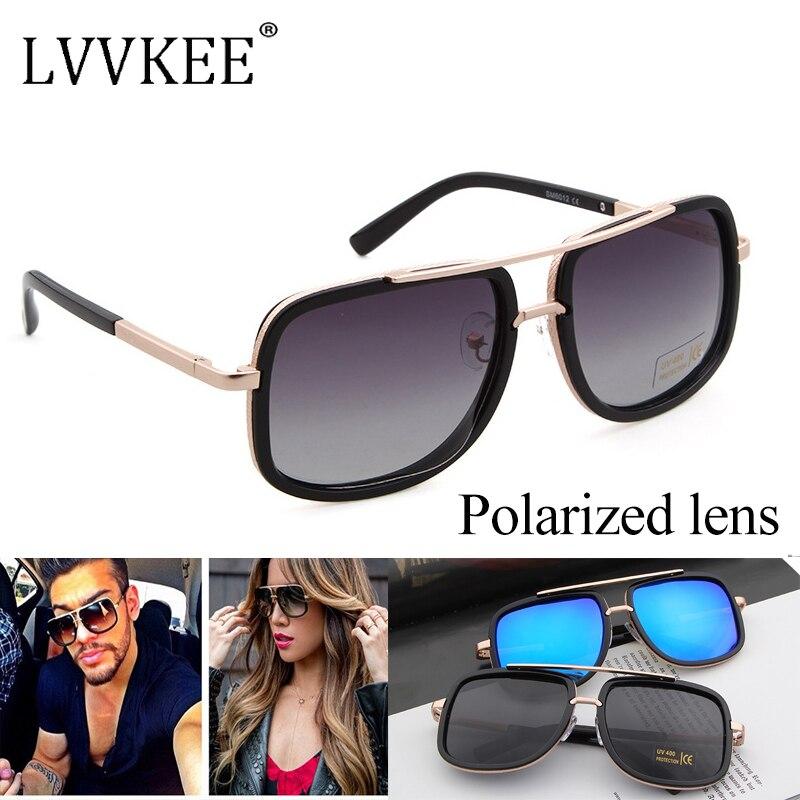 Klasická značka Desinger Celebrity Square Polarizovaná čočka Sluneční brýle dámské / pánské Zrcadlo UV400 Sluneční brýle gafas lentes de sol mujer