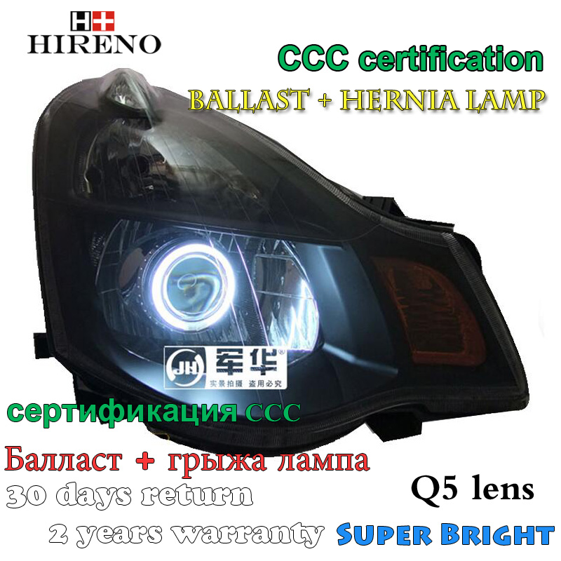 Hireno Modified Headlamp for Nissan Sylphy Sentra 2006-2011 Headlight Assembly Car styling Angel Lens Beam HID Xenon 2 pcs hireno headlamp for cadillac xt5 2016 2018 headlight headlight assembly led drl angel lens double beam hid xenon 2pcs