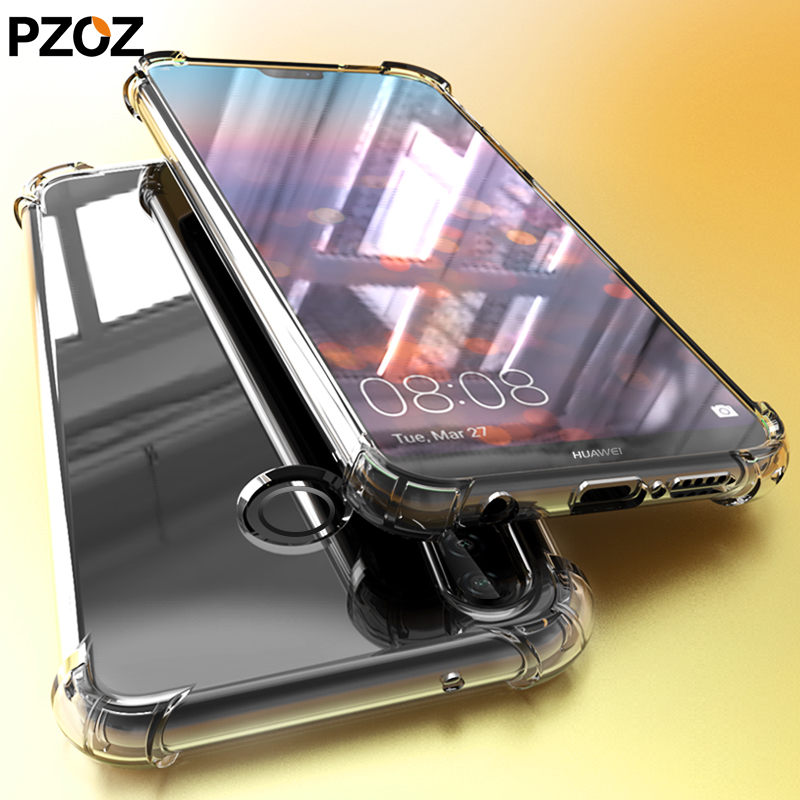 PZOZ huawei mate 20 lite p20 pro case cover silicone luxury shockproof Transparent Protective p 20 20x phone honor 8x hawei max
