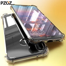 PZOZ huawei mate 20 lite p20 pro case cover silicone luxury shockproof Transparent Protective p 20 20x phone honor 8x hawei max(China)