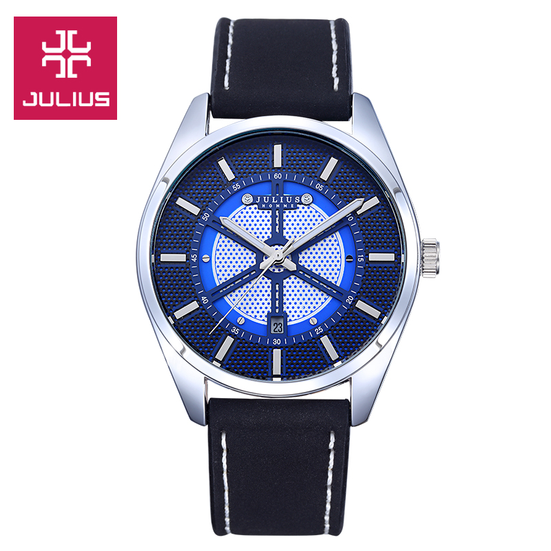 Top 4 Colors Julius Homme Men s Watch Hours Clock Fashion Business Dress Leather Boy Birthday