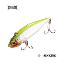Kingdom fishing lures sinking VIB 75mm 21.5g/27.2g,60mm 10.9g/14.3g hard bait fishing tackle six colors available model 5504
