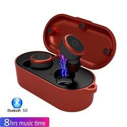 Bluetooth 5.0 słuchawki douszne IPX8 wodoodporna redukcja szumów słuchawki prawda bezprzewodowe słuchawki z mikrofonem Stereo bezprzewodowe słuchawki do telefonu
