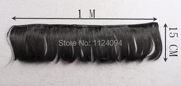 15 * 100cm 10pcs / lot vruće prodaju lutke vlasulja BJD SD DIY ravna - Lutke i pribor - Foto 3