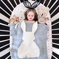 Новорожденный мультфильм кролик ребенка пеленать диван бросить одеяло Трикотажные детские одеяла ручной работы шерстяные смешанное мягкая постельные принадлежности одеяло