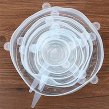 6 шт. силиконовая крышка чаши многоразовая крышка кастрюли нелиняющий защитный чехол крышка 4 цвета и