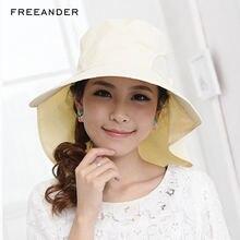 Freeander 1 шт Женская Солнцезащитная шляпа Пляжная Панама 2018