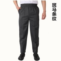 Chef Pants Kitchen Chefs Overalls Hotel Hotel Waiter Work Pants Chef Full Elastic Pants