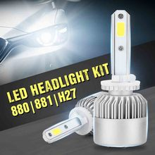 2 pcs Car LED Headlight Bulbs Hi-Lo Beam 8000LM 6000K Auto Headlamp LED Light H1/H3/H4/H7/H11/H13/H27/9004/9005/9006/9007 tc x auto led headlight for hyundai getz tb h4 h27 880 h1 high low beam led bulbs foglight auto headlamps 2004 2005 2007 2008