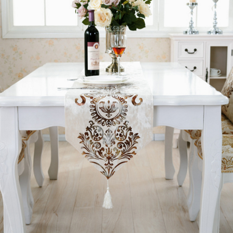 Runner bandiera da tavolo bandiera da tavolo da pranzo moderno regalo di lusso europeo corridore - Runner da tavolo moderno ...