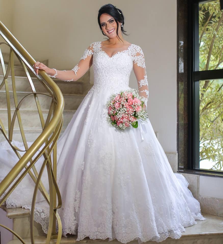 Lace Wedding Dress With Sleeves Bridal Dress Wedding Gown Dresses For Bride Superbweddingdress