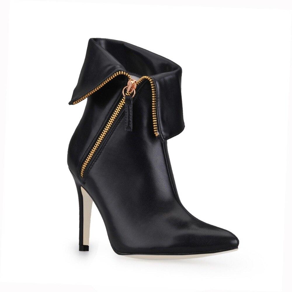 ᐊHeiße neue marke mode reißverschluss frauen high heels sexy ...