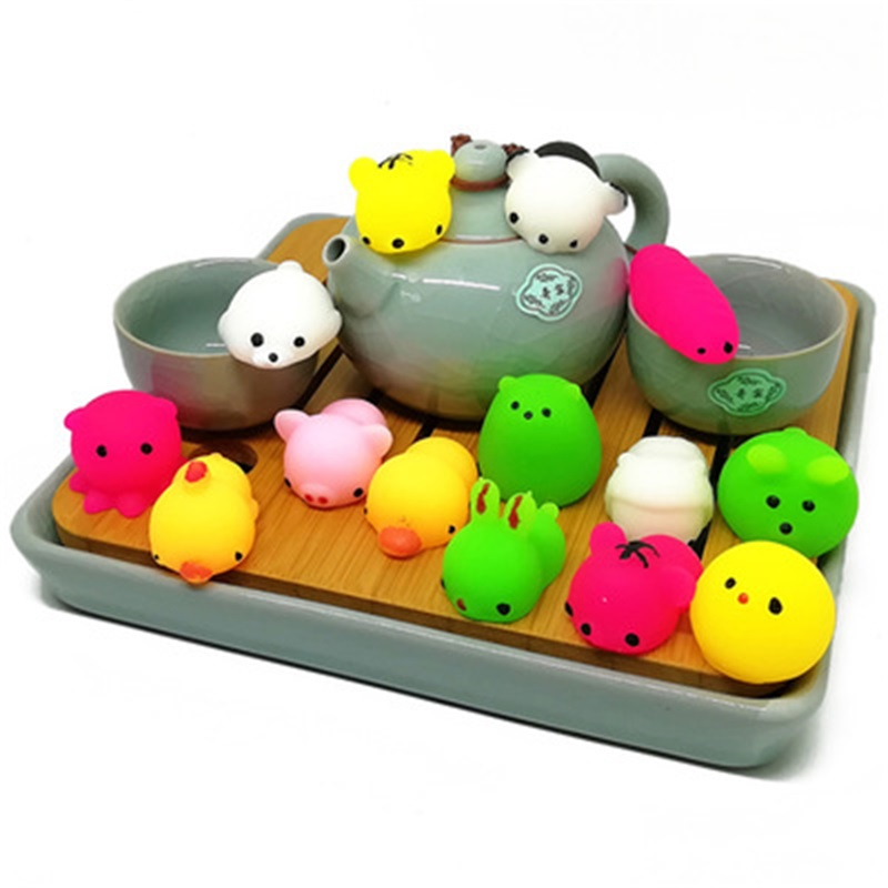 Hard-Working Slow Rising Squishys Kawaii Ochi Mini Animal Squishy Toy Healing Fun Stress Reliever Decompression Toy