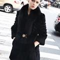 2016 nueva moda 4 colores abrigo de piel real para las mujeres Warm autumn & winter Noble Elegante abrigo de piel de conejo de las mujeres compras libres QS-65