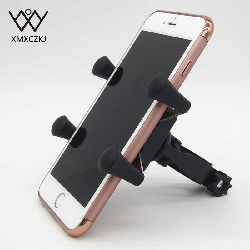 XMXCZKJ Moible Cell Phone Holder X-Grip Clamp Mount Bike Bicycle Phone Holder Stand Support For Grip Smartphone Cellphone Holder