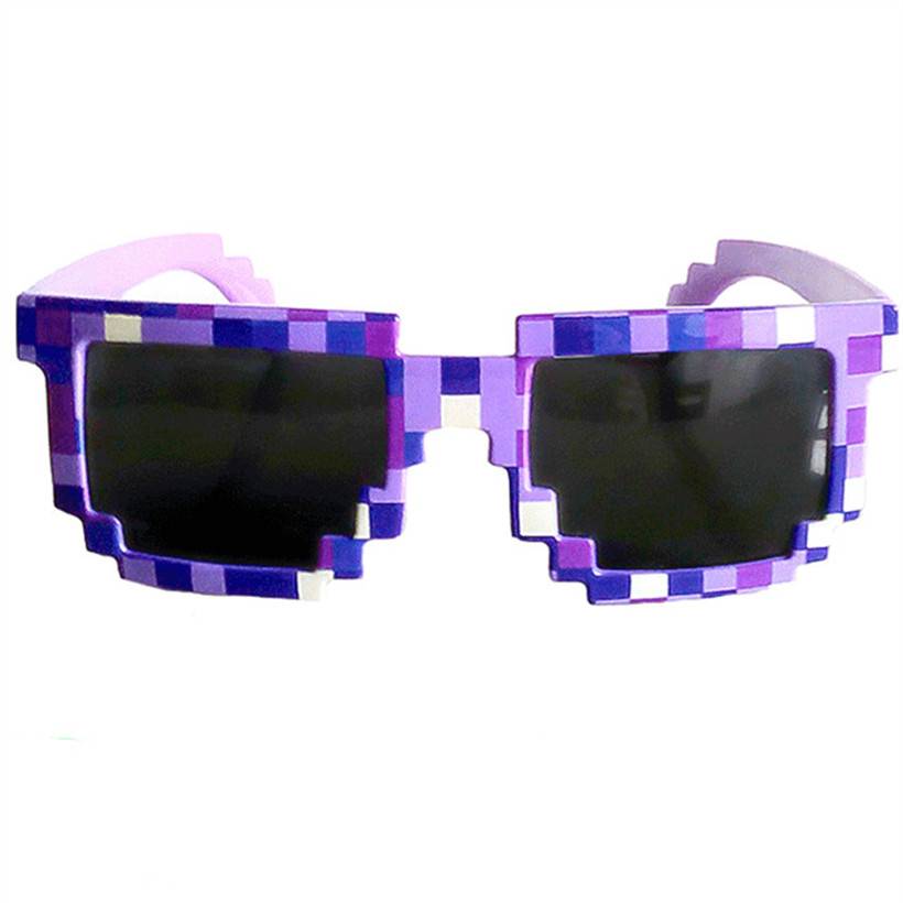 font b Minecraft b font Glasses Deal with it 8 bit Pixel Women Men Sunglasses