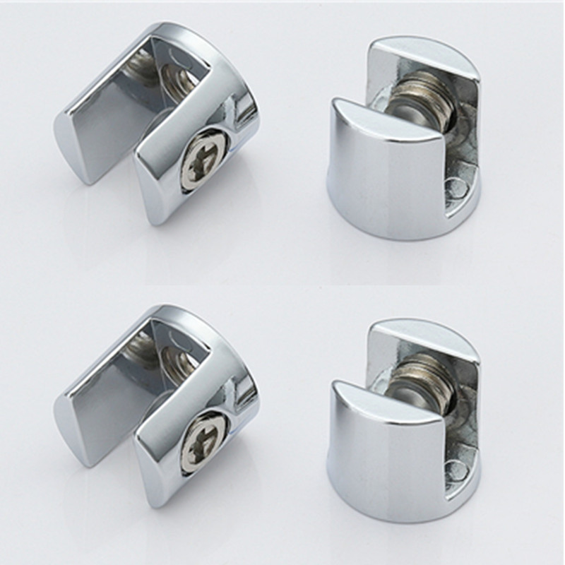 4pcs Glass Clamp Glass Plated Brackets Zinc Alloy Chrome Finish Shelf Holder Support Brackets Clamps For 6-8mm/ 8-10mm/ 10-12mm