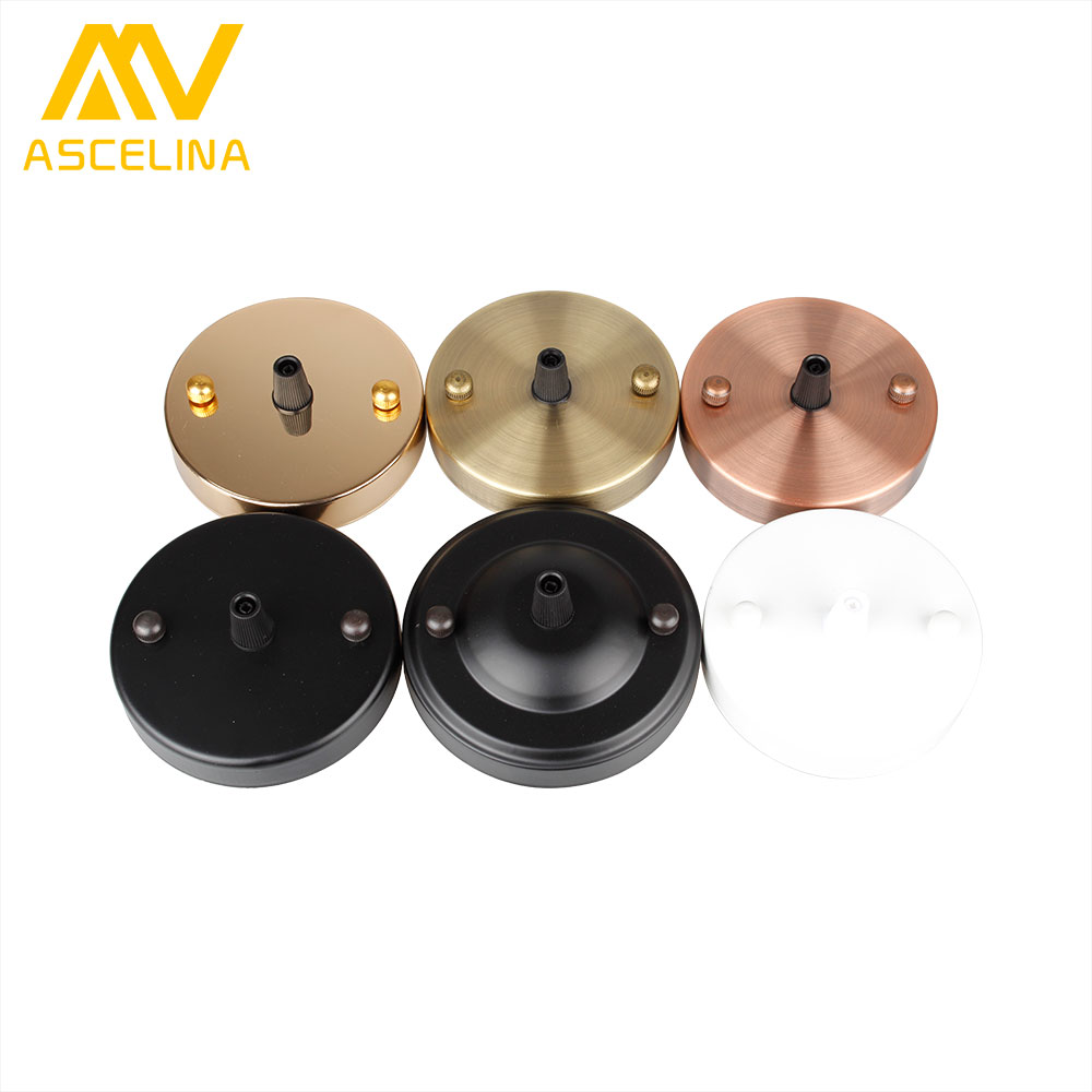 ASCELINA lamp base Antique Vintage Ceiling Plate Metal ceiling holder e27 Lamp fitting chandelier Base DIY lighting accessories