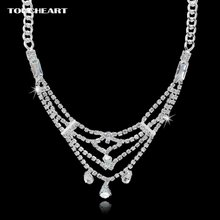 Женское Ожерелье с кулоном toucheart серебряное ожерелье кристаллами