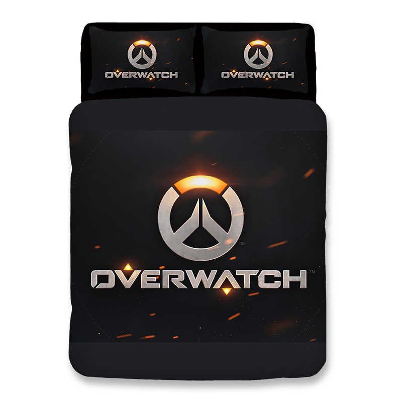 Overwatch 3D nevresim takımı nevresim takımı Yastık Kılıfı OW Overwatch Oyunları yorgan yatak setleri Ejderha örtüsü çarşaf