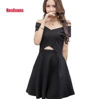 RosEvans 2017 Summer Dress New Designs Women Hollow Out Dress Holiday Slim Dress Cute Party Dress