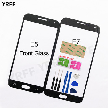 Front Panel Glass For Samsung Galaxy E7 E7000 E5 E5000 E500F Front Glass (No Touch Screen Digitizer Panel ) Outer Glass image