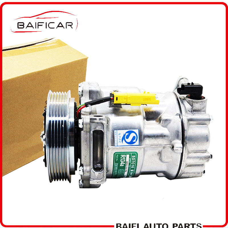 Baificar Brand New Genuine Air Conditioner Compressor 6 7 Cylinder For Peugeot 206 207 307 308