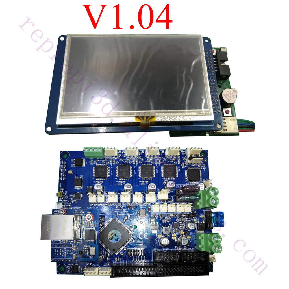 Latest V1.04 Duet 2 Ethernet Controller board 32 bit board Duet Ethernet Motherboard W/ 4.3 7 PanelDue Touch Screen Controller цена