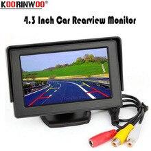 Koorinwoo 4,3 дюймов ЖК-дисплей экран TFT монитор Дисплей красочные Экран 800*480 Разрешение для заднего вида реверсивная Камера