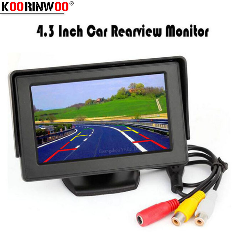 Koorinwoo <font><b>4.3</b></font> <font><b>Inch</b></font> LCD TFT Screen <font><b>Monitor</b></font> Display Colorful Screen 800*480 Resolution For Car Rear View backup Reversing Camera image