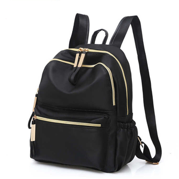 2018 Casual Oxford Backpack Women Black Waterproof Nylon School Bags for Teenage Girls High Quality Fashion Travel Tote Backpack