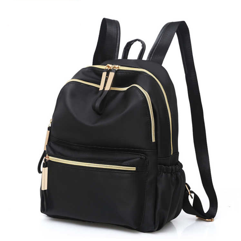 2019 Casual Oxford Backpack Women Black Waterproof Nylon School Bags For Teenage Girls High Quality Fashion Travel Tote Backpack